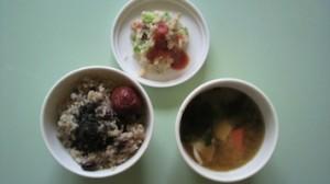 和食で朝食
