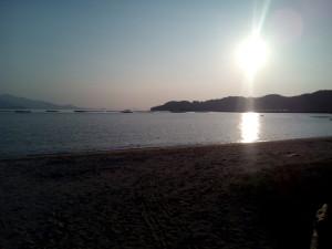 僧伽小野から見える海辺